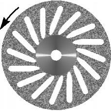 Диск алмазный зуботехнический Косая прорезь (Т1)
